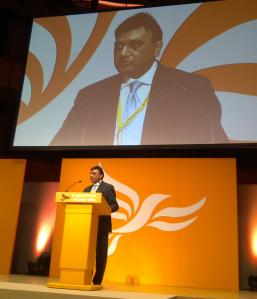 Issan Ghazni speaking at the 2012 Liberal Democrats Spring Conference